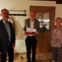 Bild privat: v. links Werner Baum, Dr. Hubertus Fritzsching, Rita Balzer